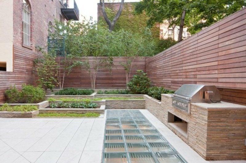 Gartengrill aus Naturstein modernes Design