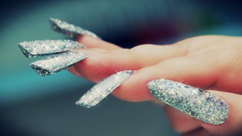 Nagelmodellage Bilder: Glitter Design