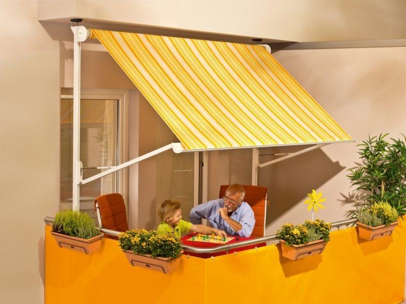 Balkonmarkise Gelb