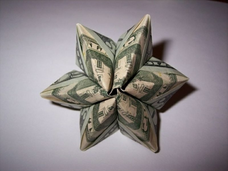 Geldschein Blume originelles Design