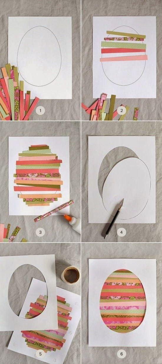 osterkarten selber basteln in bunten farben ist eine spannende aufgabe