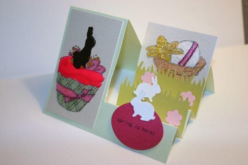 osterkarten lustige kreative bastelideen zum aufkleben