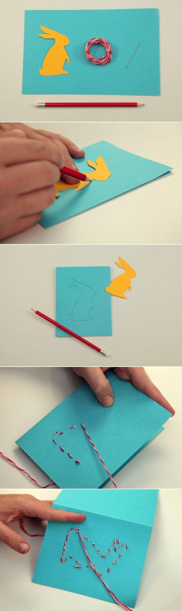 osterkarten bastelideen tutorial schritt für schritt