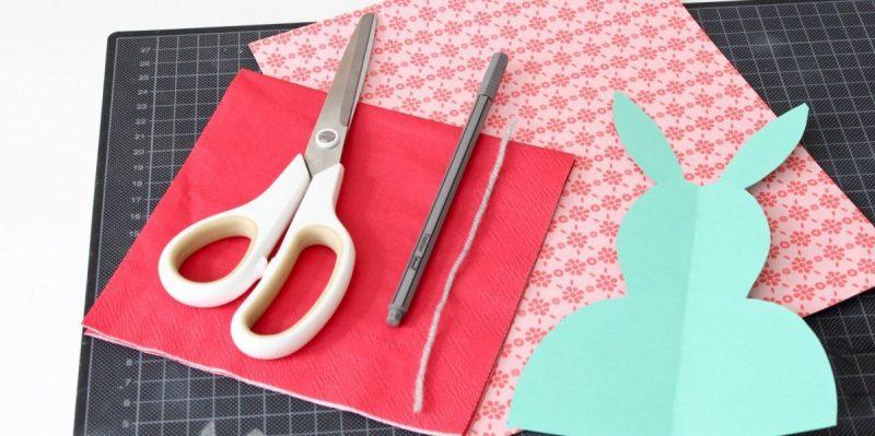 ostetkarten auf tonpapier abzeichnen und basteln vorbereitung und materialien