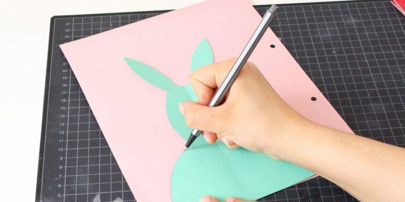 ostetkarten auf tonpapier abzeichnen