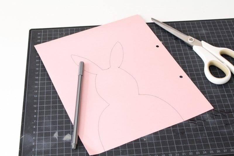 ostetkarten auf tonpapier schon abgezeichnet und fertig zum basteln und dekoration