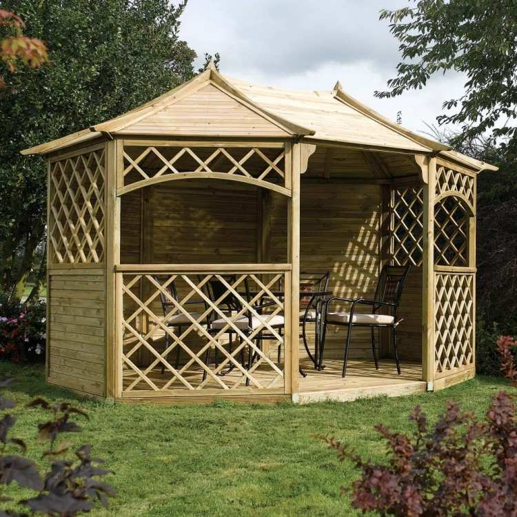 pavillon selber bauen ausgefallen