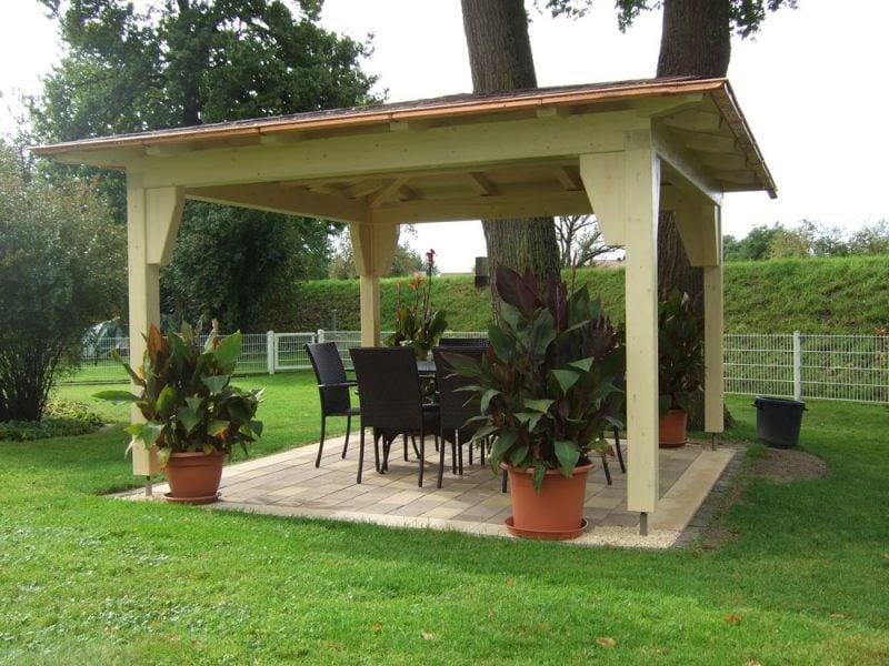 pavillon selber bauen groß