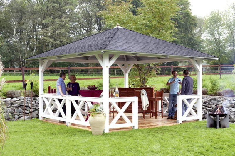 pavillon selber bauen garten
