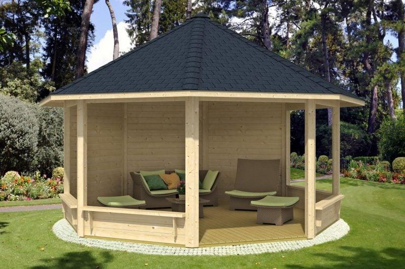 pavillon selber bauen rund