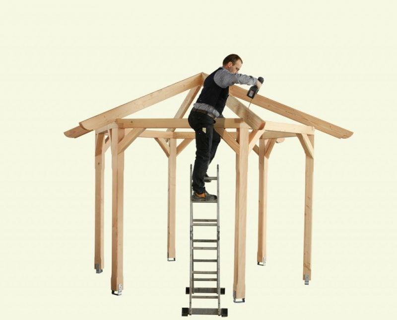 pavillon selber bauen schritt für schritt