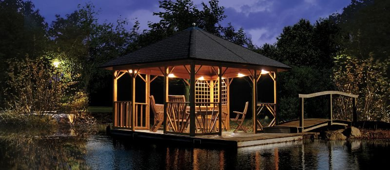 pavillon selber bauen nacht