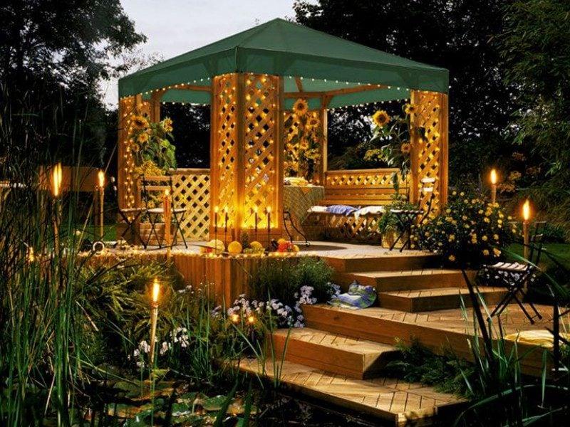 pavillon selber bauen üppig
