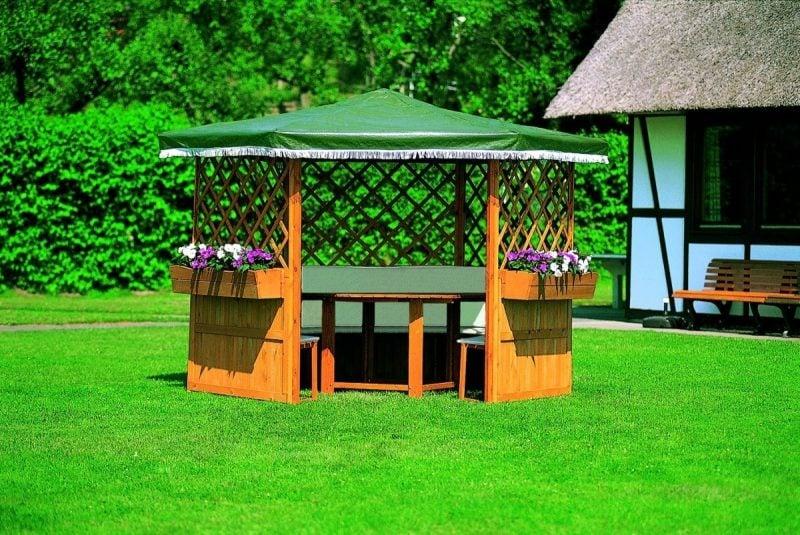 pavillon selber bauen fröhlich
