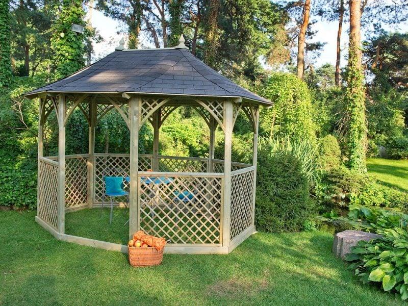 pavillon selber bauen einfach