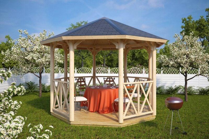 pavillon selber bauen schlicht