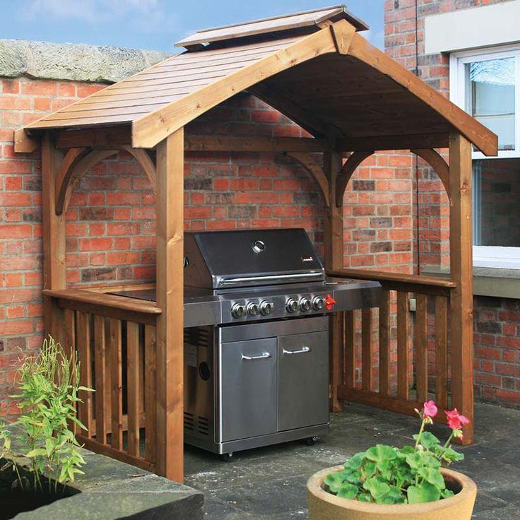pavillon selber bauen außen küche
