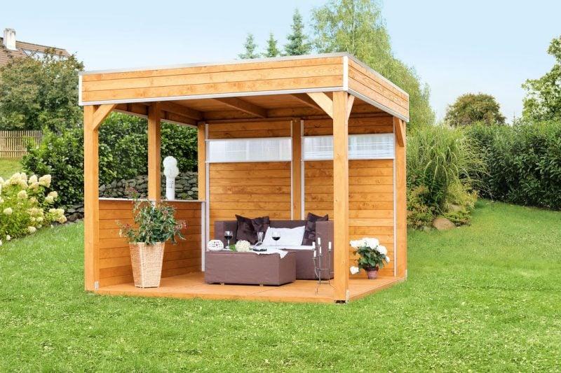 pavillon selber bauen klein