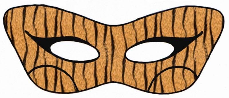 Schablonen zum Ausdrucken für eine Maske wie ein Tiger