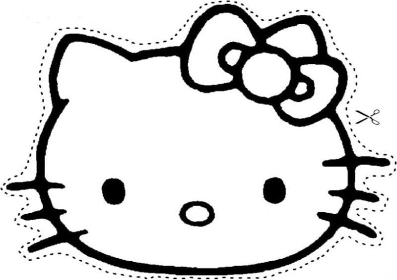 Schablonen zum Ausdrucken mit Hello Kitty