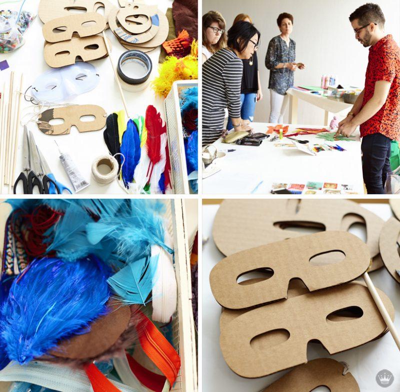 Schablonen zum Ausdrucken: DIY Halloween Maske Dekorieren
