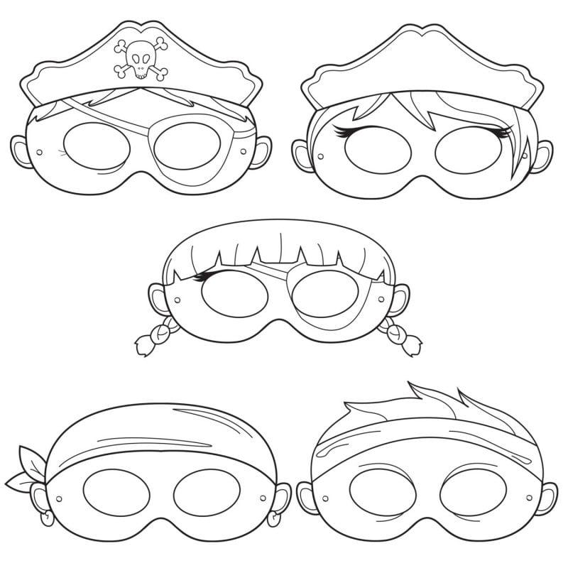 Schablonen zum Ausdrucken: Halloween Maske