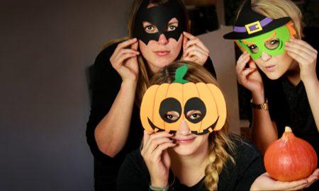 Schablonen zum Ausdrucken für Halloween Maske