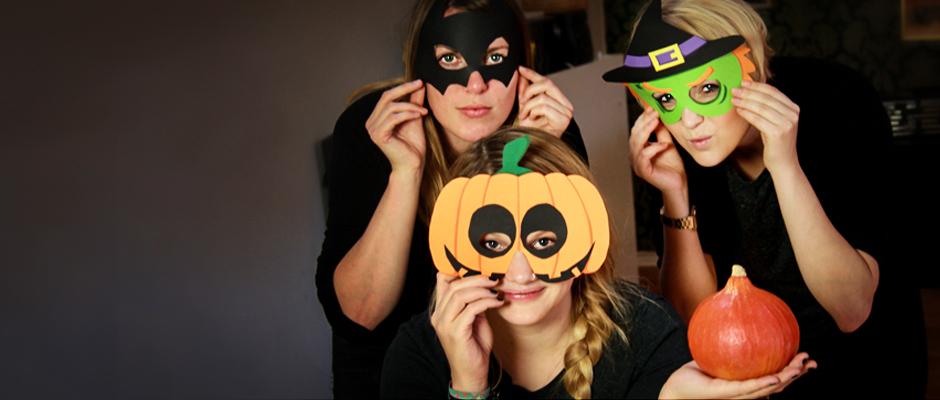 Halloween Maske basteln 20 Schablonen zum Ausdrucken