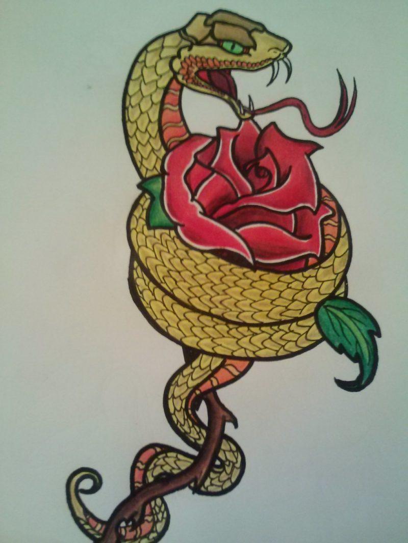 Schlangen Tattoo Vorlage