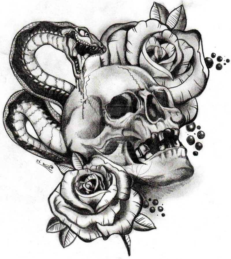 Schlangen Tattoo kostenlose Vorlage