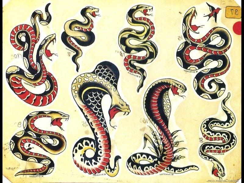 Schlangen Tattoo Vorlagen