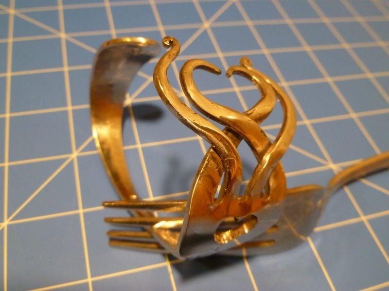 Schmuck aus Silberbesteck Anleitung Armband