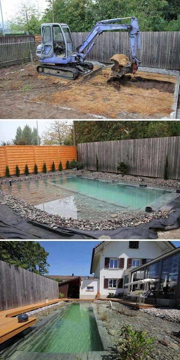 schwimmteich selber bauen diy