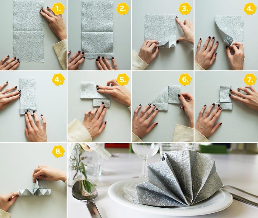 servietten falten anleitung f r 10 festliche formen deko feiern zenideen. Black Bedroom Furniture Sets. Home Design Ideas
