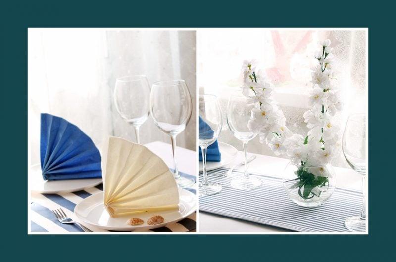 servietten falten anleitung für vorgenommene anlässe im restaurant