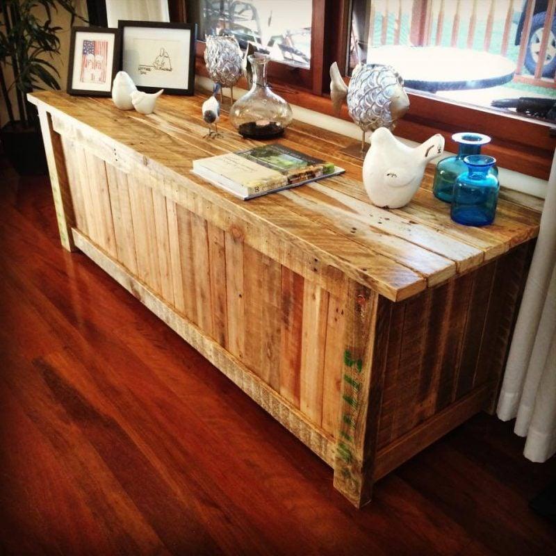 Sideboard selber bauen : Idee mit Paletten