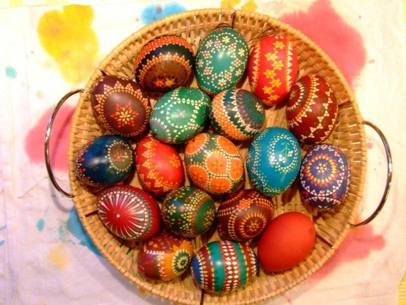 kreative DIY Ideen sorbische Ostereier