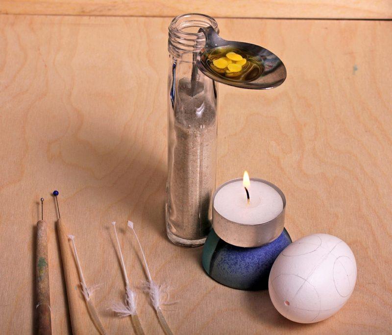 DIY sorbische Ostereier Materialien