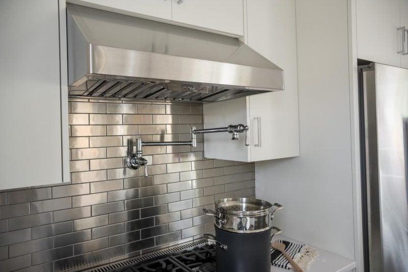 Spritzschutz für Küche aus Metall