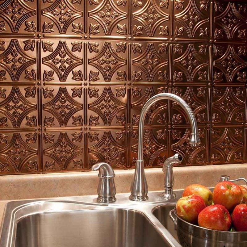 Spritzschutz für Küche Bronze