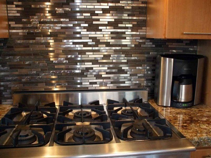 Spritzschutz für Küche Metall