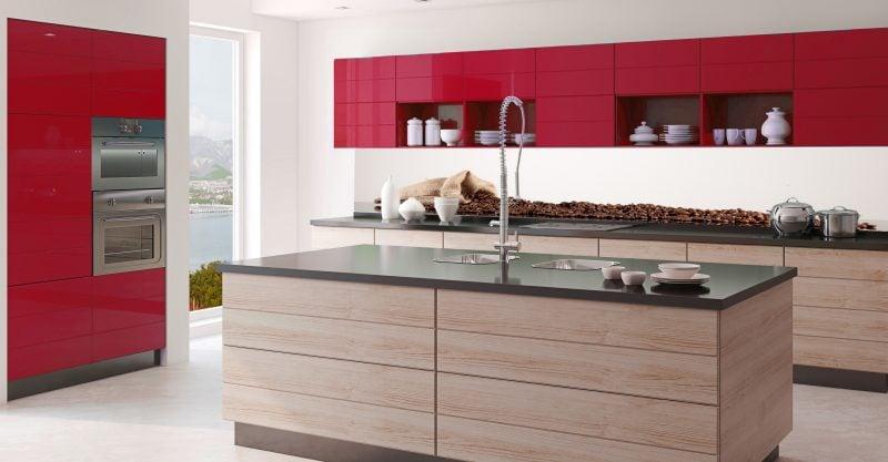 Spritzschutz für Küche aus Glas