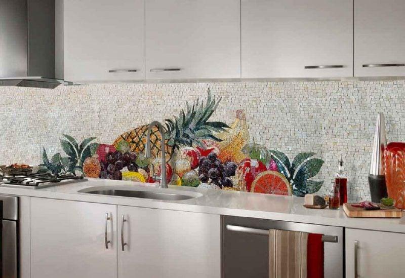 Spritzschutz für Küche aus Mosaik