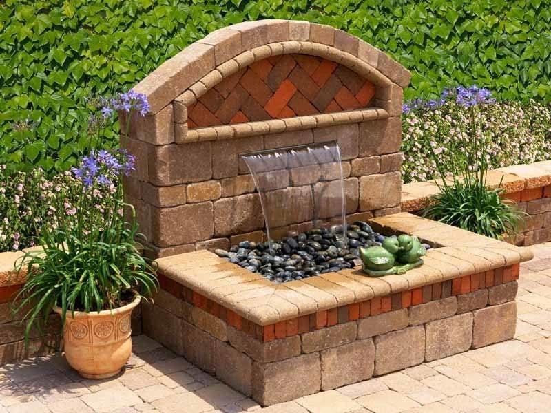 stein gartenbrunnen dekorativ
