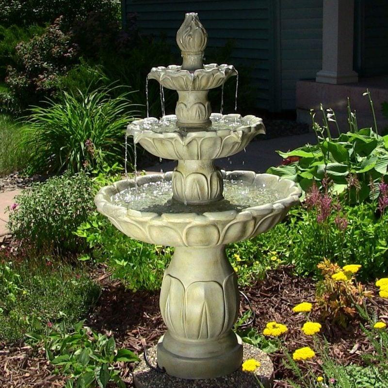 stein gartenbrunnen klassisch
