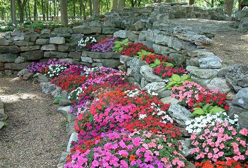 Blumenbeet mit Steinen anlegen und bepflanzen