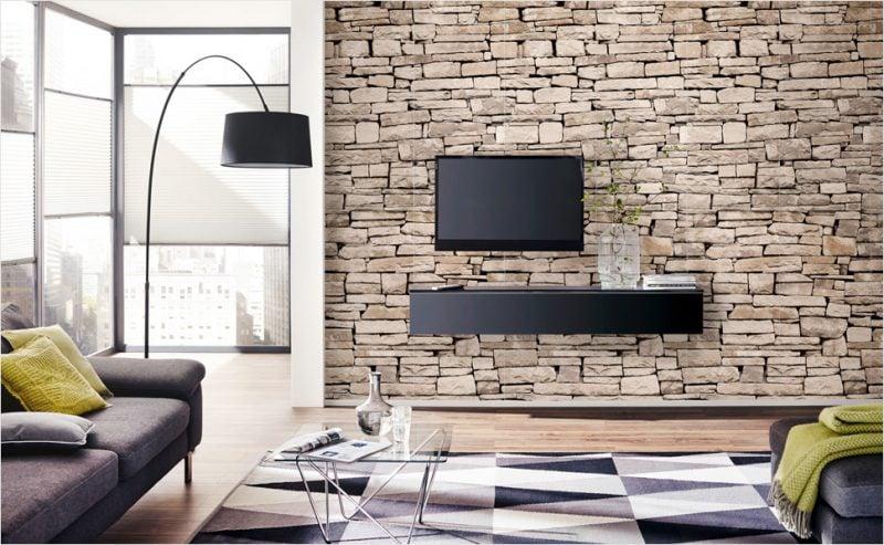 steinoptik wand 160 steinwand tapete steine mauer steintapete grau wandverkleidung. Black Bedroom Furniture Sets. Home Design Ideas