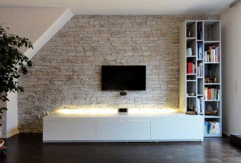 steinoptik wand 20 erfinderische ideen architektur wohnzimmer zenideen. Black Bedroom Furniture Sets. Home Design Ideas