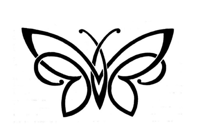 Tattoovorlagen für Unterarm Schmetterling