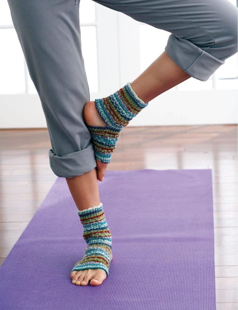 Strickmuster für Socken für Yoga Training